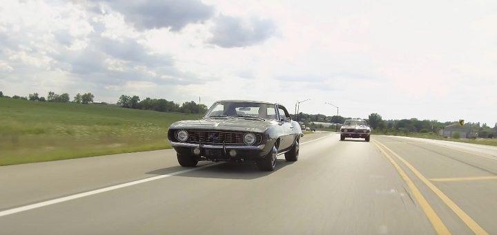 跑车商店比较库存并修改了1969 雪佛兰Camaro跑车
